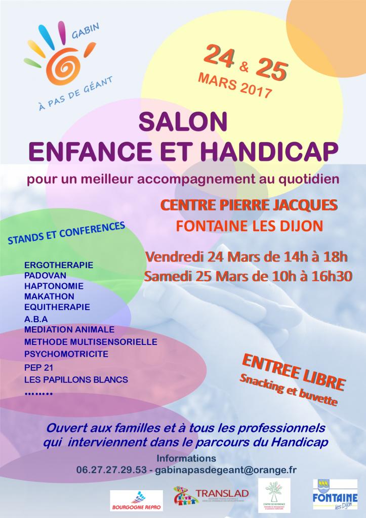 Salon enfance et handicap d l gation apf de c te d 39 or 21 for Salon du handicap